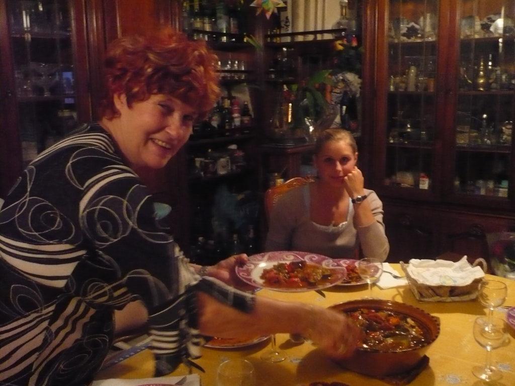 ホームステイ先のマダムが夕食を作ってくれます