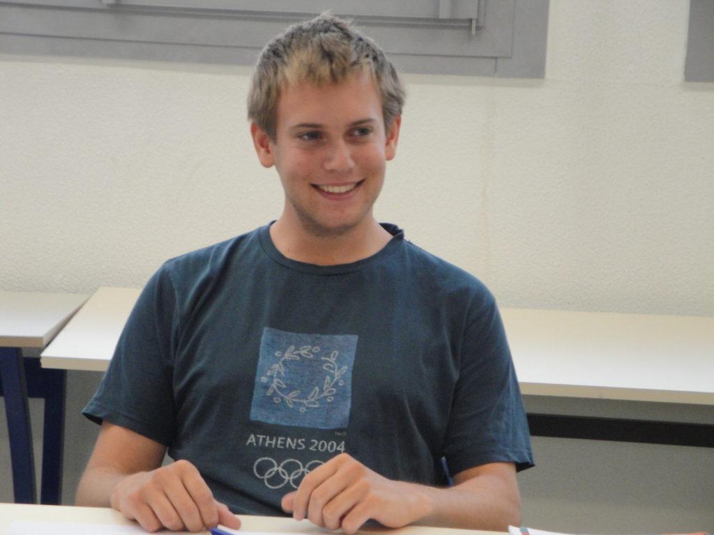 プライベートレッスンを受けるスイスからの生徒さんです。