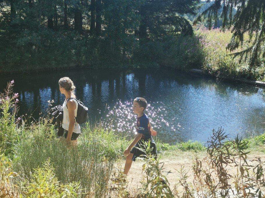 ロワール川の源流の池