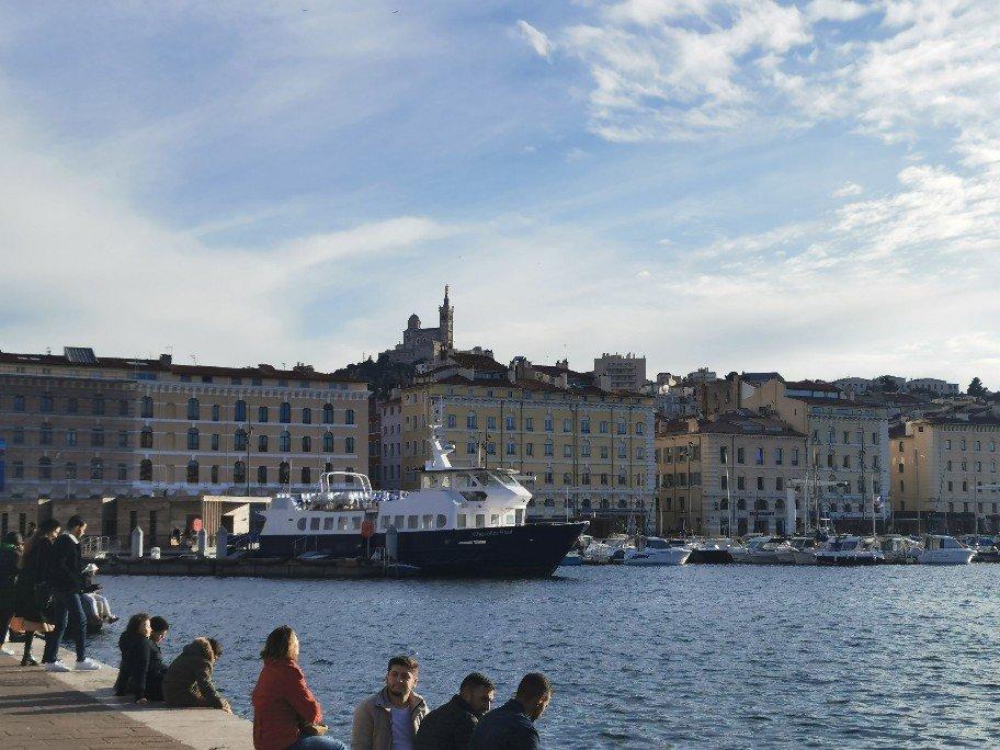 石鹸博物館は、マルセイユの港にあり、目の前にはこのような景色。